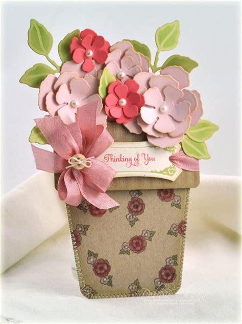 flower pot pocket card template thinking of you pocket card just because vintage labels