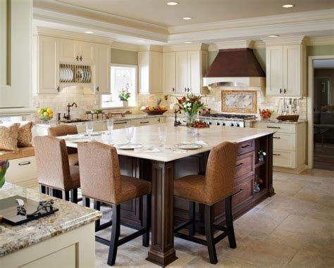 kitchen island with table furniture white cottage eat in kitchen photos hgtv dining