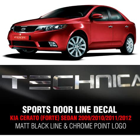 Kia Cerato Logo Door Black Line Decal Sticker Chrome Logo For Kia