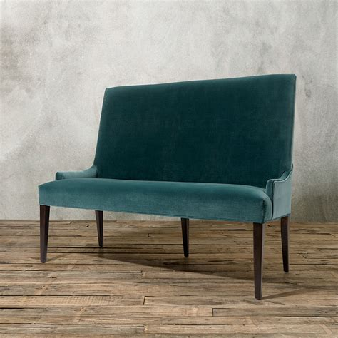 upholstered dining bench green velvet upholstered dining bench with height back of