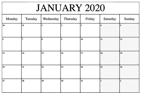 january calendar  printable template blank   word excel  january calendar