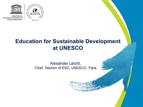themes of education for sustainable development education for sustainable development at unesco ppt