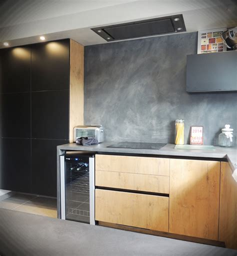 cuisine bois beton cuisines bois pour des cuisines lumineuses mati 232 res