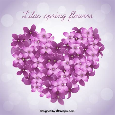 fiori color lilla big made of lilac flowers background vector