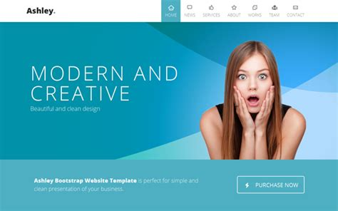 layout parallax bootstrap ashley one page parallax business corporate