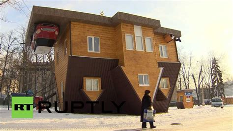 houses in russia russia upside down house turns heads in moscow youtube