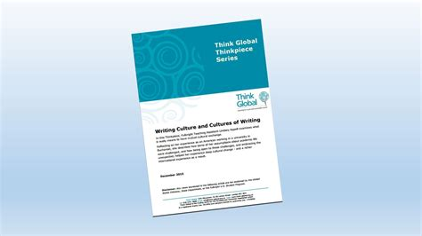 Writing Culture think global think writing culture cover think global
