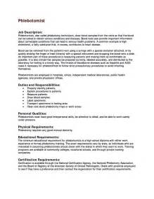 phlebotomy resume templates 10 phlebotomist resume sle writing resume sle