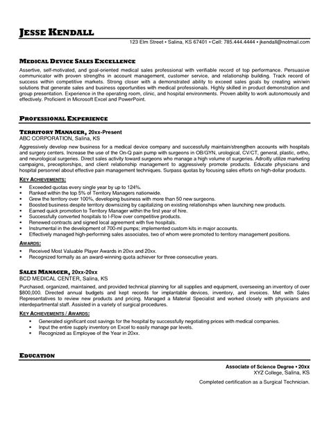 Resume Cover Letter Sles Healthcare Sales Resume Sle Free Resumes Tips