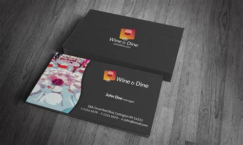 Free Business Cards Templates For Restaurants by Business Card Templates Digital Takeaway Restaurants