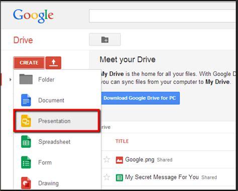 Present Slides Using Google Drive Presentation Presentation Drive
