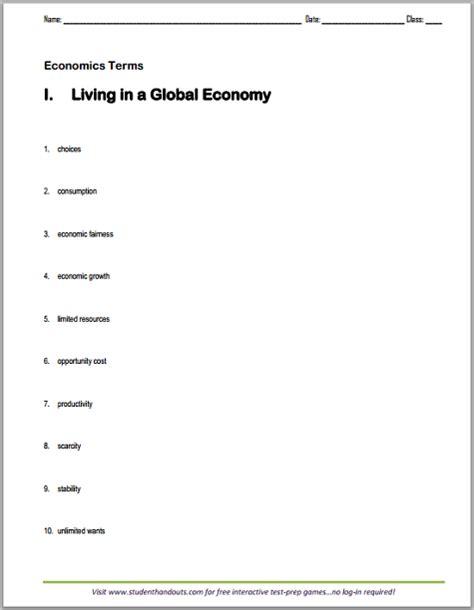 Economics Worksheets by High School Economics Worksheets Images