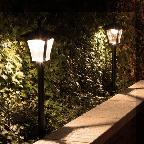 solar powered outdoor l post lights 1 2m outdoor garden traditional solar security driveway 6