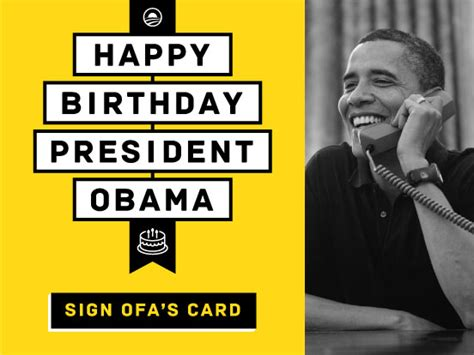 Obama Birthday Card by The Rabbit To Obamaland Danmillerinpanama