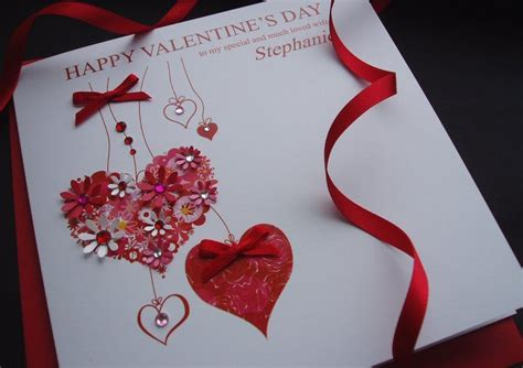 Valentines Handmade Cards - handmade valentines cards personalised s