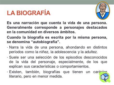 caracteristicas de una biografia y autobiografia tipolog 205 as de las obras narrativas ppt descargar