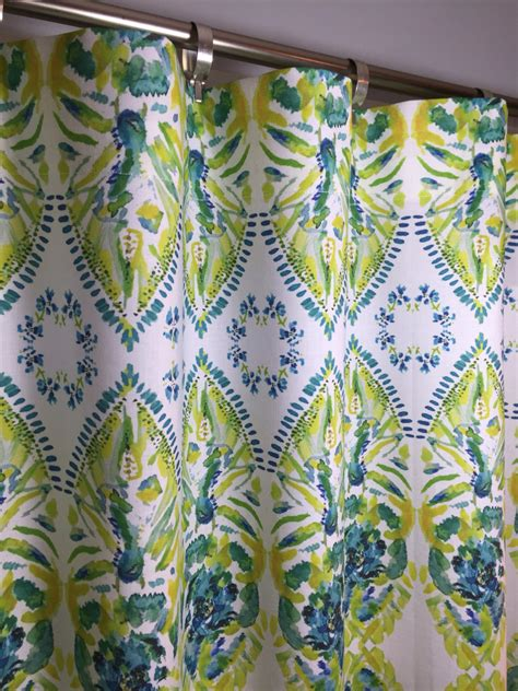 yellow and turquoise curtains yellow turquoise lime green cafe valances and curtains