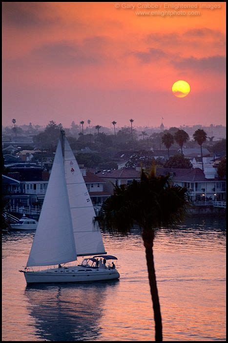 newport boats corona catalina sailboat at sunset corona del mar newport beach