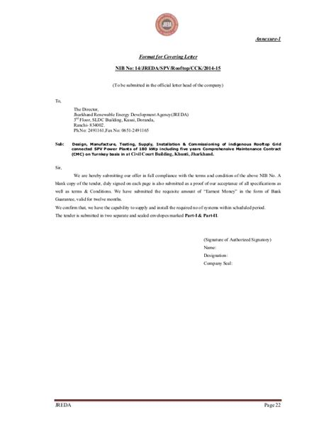 42 tender cover letter sample professional meowings