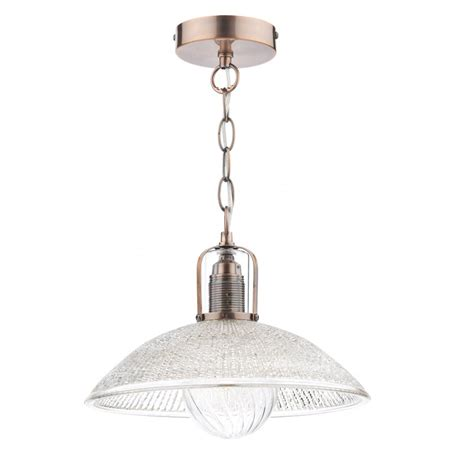 Decorative Pendant Lights with Decorative Retro Ceiling Pendant In Copper With Glass Shade Class 2