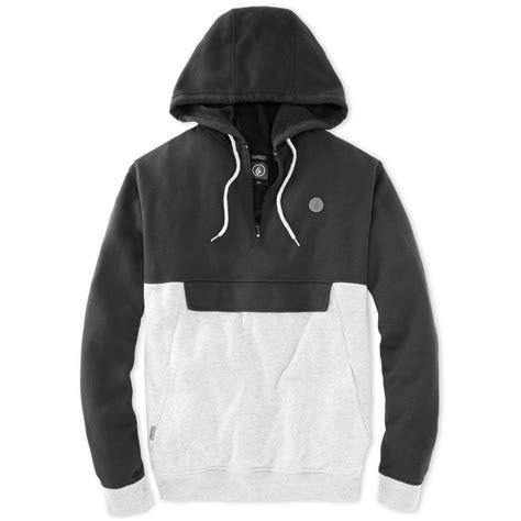 Jaket Zipper Hoodie Sweater Ripcurl lyst volcom colorblocked hoodie in gray for