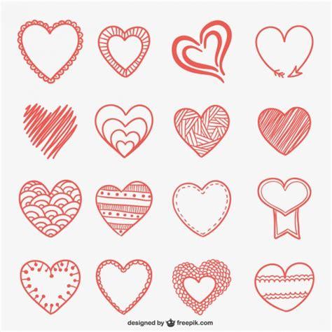 imagenes chidas que se puedan dibujar dibujos de corazones descargar vectores gratis
