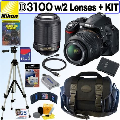 Nikon D3100 Kit 5 how about nikon d3100 14 2mp digital slr with 18 55mm f 3 5 5 6g af s dx vr and 55 200mm