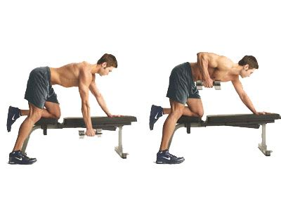 dumbbell bench rows one arm dumbbell rows strong mind strong body