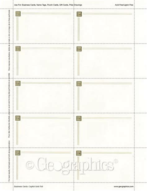 geographics business card template capital gold foil ivory business cards 2 quot x3 5 quot