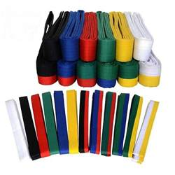 martial arts belt colors taekwondo belt karate wrap belt professional
