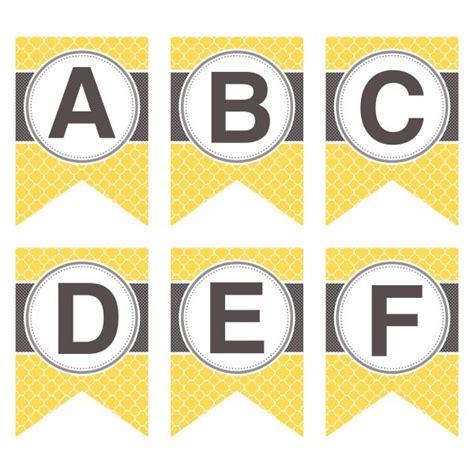printable classic alphabet banner pennants printable alphabet letters a z printable banner letters