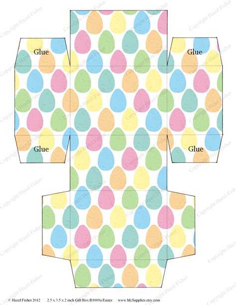 templates for easter egg boxes hazel fisher creations printable easter gift boxes