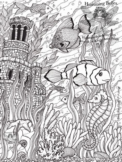 ocean animals coloring pages for adults get this ocean coloring pages for adults yebc7