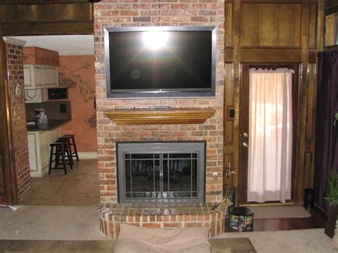 tv above fireplace brick fireplaces with tv above tv install installation