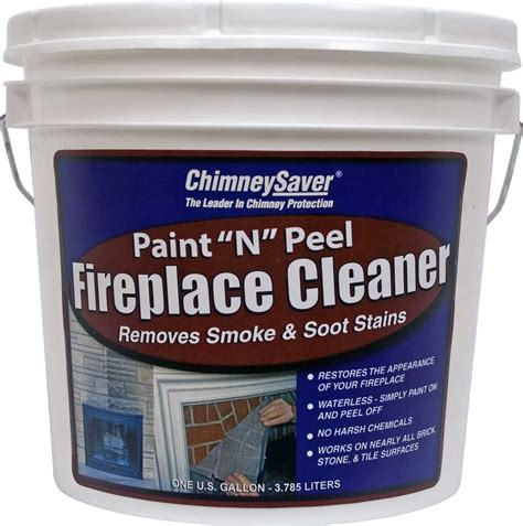 cleaning fireplace paint quot n quot peel fireplace cleaner chimneysaver