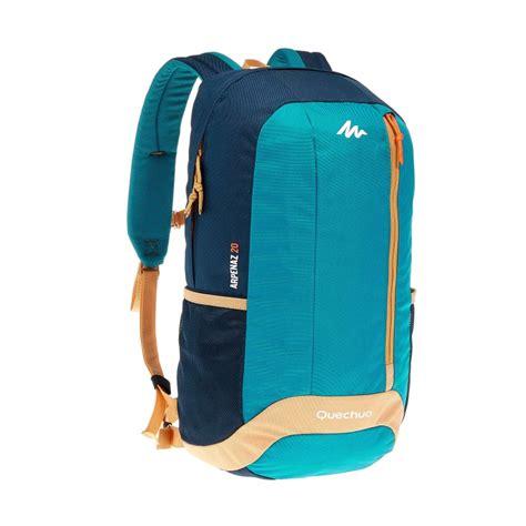 Backpack Quechua Arpenaz 20l Arpenaz 20l Hiking Backpack Blue Beige Decathlon