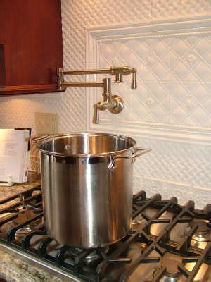 Stove Top Water Faucet by Pot Filler Faucet Ask The Builder