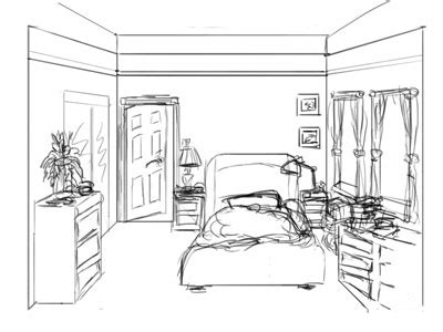bedroom drawing bedroom drawing easy images