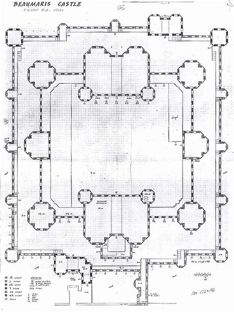 beaumaris castle floor plan beaumaris