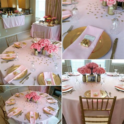 bridal shower table decorations 25 best ideas about bridal shower pink on pinterest