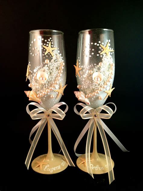 MyBridalglasses.com Custom hand decorated wedding