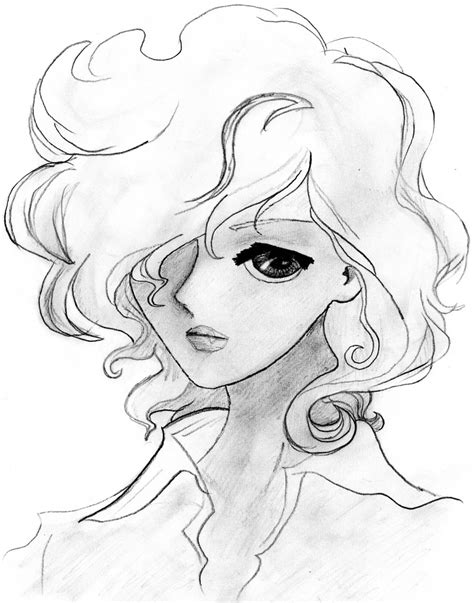 medium length hairstyle sketches girl wi curly hair by franbo on deviantart