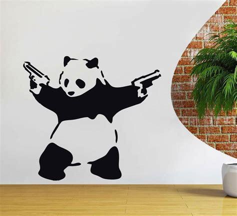 banksy panda decal wall sticker decor street art vinyl