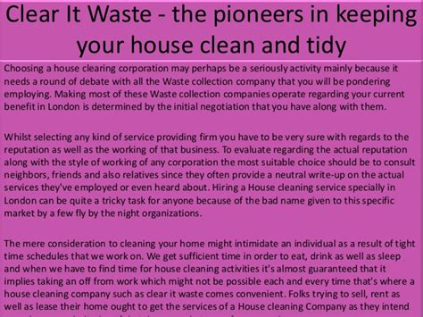 keeping your house clean clear it waste the pioneers in keeping your house clean