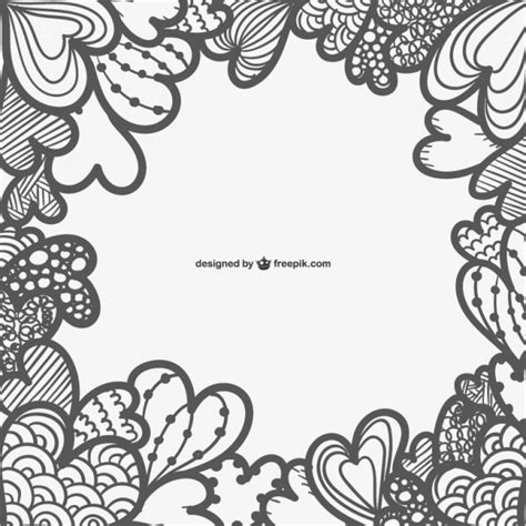 imagen en blanco y negro romanticas rahmen mit herz download der kostenlosen vektor