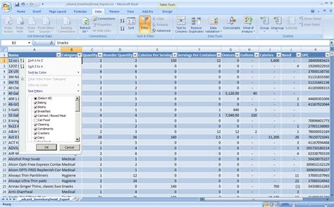 Food Inventory Spreadsheet by Food Inventory Template Best Resumes