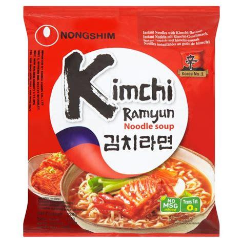 Nongshim Kimchi morrisons nong shim kimchi ramyun noodles 120g product