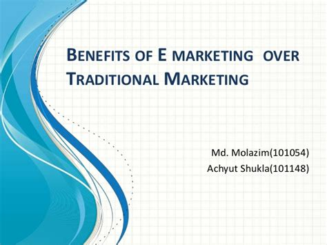 Benefits Of Mba In Marketing by E Market Benifit