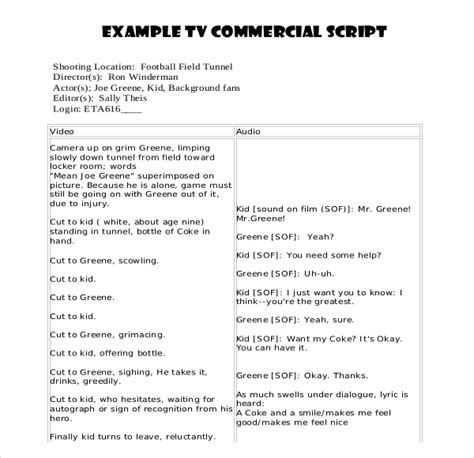 script writing template for script writing template 8 free word pdf documents