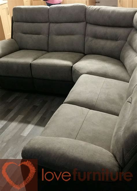 dillon fabric recliner corner sofa
